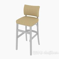 简约现代高脚椅3d模型下载