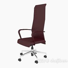 红色高背办公椅3d模型下载