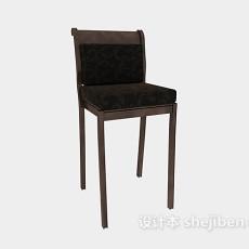 欧式风格简约高脚椅3d模型下载