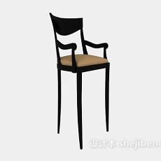 美式风格高脚椅3d模型下载