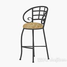精致高脚椅3d模型下载