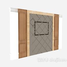 现代家居电视墙3d模型下载