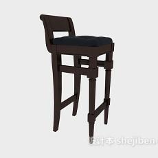美式简约高脚椅3d模型下载