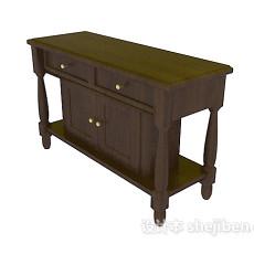 中式家具柜子3d模型下载