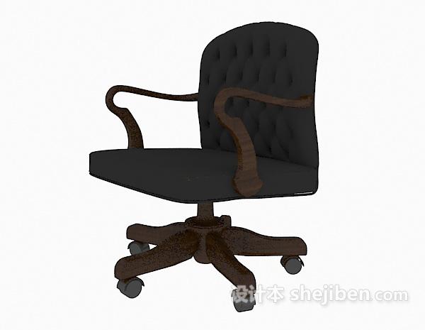 皮质移动老板椅