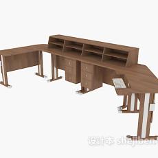 组合办公接待桌3d模型下载
