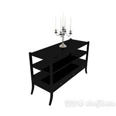欧式实用实木边桌3d模型下载