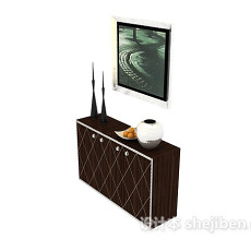 欧式简约过道装饰柜3d模型下载