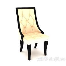 高背休闲椅子3d模型下载