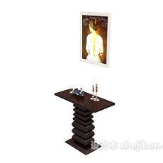 欧式装饰边桌3d模型下载