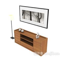 现代简约装饰厅柜3d模型下载