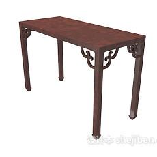 中式雕花边桌3d模型下载