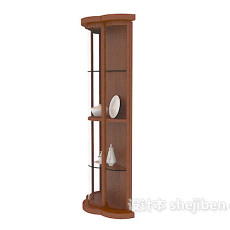 中式家具展示柜3d模型下载