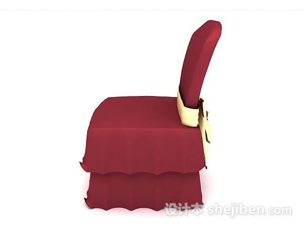 大红色时尚餐椅