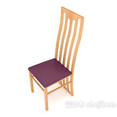 简约大方靠背餐椅3d模型下载