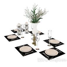 餐具碗碟3d模型下载