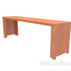 休闲实木长凳3d模型下载