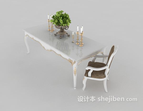 白色地中海餐桌