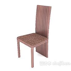 棕色高靠背餐椅3d模型下载
