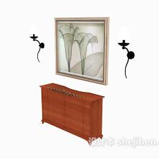 家居装饰厅柜3d模型下载
