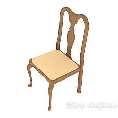 简约时尚餐椅3d模型下载