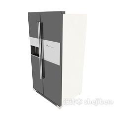 双开门式冰箱冰柜3d模型下载