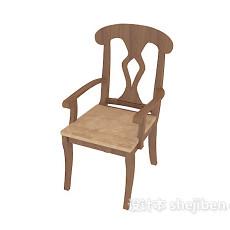 田园简约风格餐椅3d模型下载