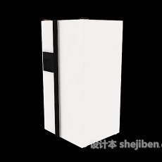 白色冰箱冰柜3d模型下载