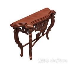 欧式雕花边桌3d模型下载