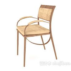 简约木质家居椅3d模型下载
