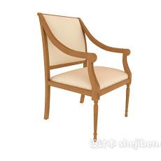 黄色美式休闲椅子3d模型下载