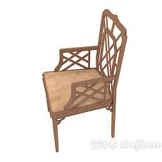 黄色简约家居椅子3d模型下载