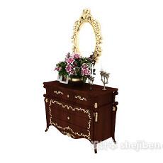 欧式风格装饰厅柜3d模型下载