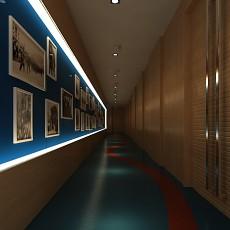 展览馆过道3d模型下载