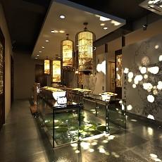 中式风格自助餐厅3d模型下载