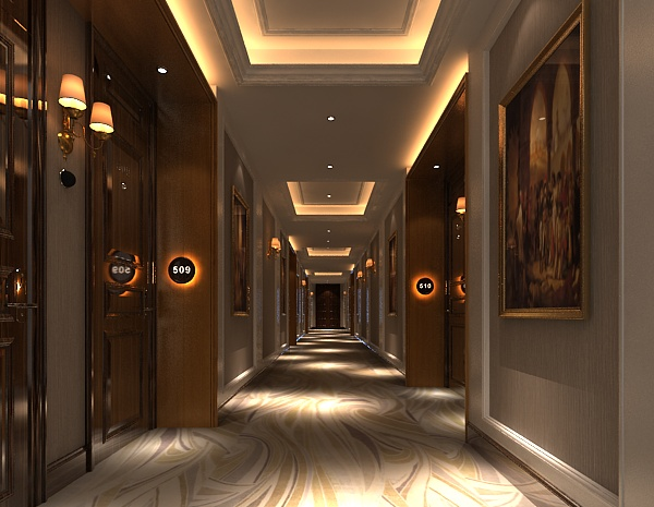 酒店宾馆过道走廊