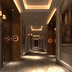 酒店宾馆过道走廊3d模型下载