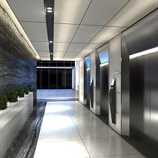 3现代电梯走廊3d模型下载