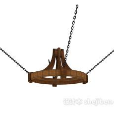 铁艺欧式吊灯3d模型下载