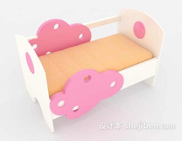 可爱粉色儿童床