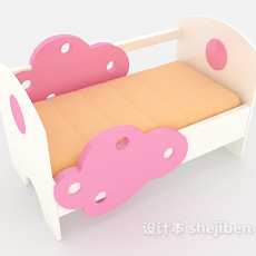 可爱粉色儿童床3d模型下载