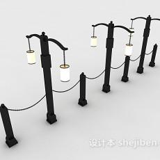 欧式风格路灯3d模型下载