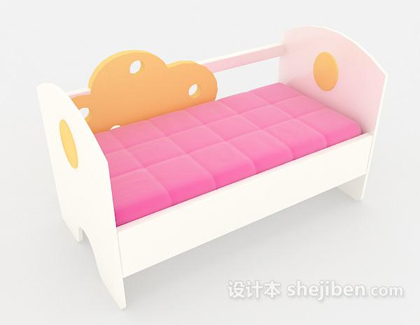粉色温馨儿童床