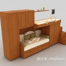 一体式儿童床3d模型下载