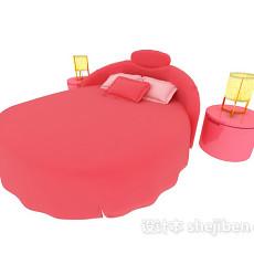 大红色儿童床3d模型下载