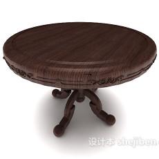 欧式家居圆桌3d模型下载