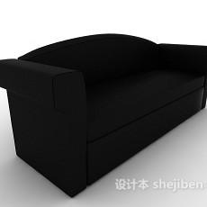 黑色现代双人沙发3d模型下载