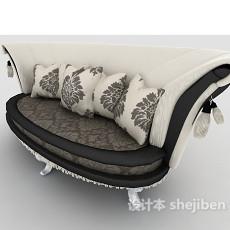 欧式豪华多人沙发3d模型下载