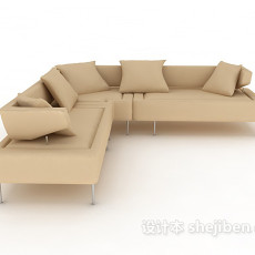 常见客厅多人沙发3d模型下载