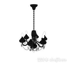 欧式家庭式吊灯3d模型下载